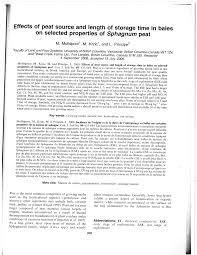 pdf effects of peat source and length