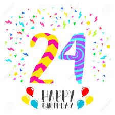 Numero 24 Del Feliz Cumpleanos Tarjeta De Felicitacion Por Veinte