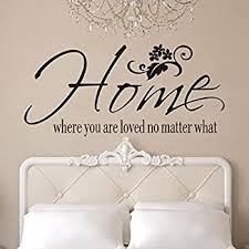 Amazon Com Bcdshop Wall Sticker Decal Saying Home Where You Are Loved No Matter What Home Bedroom Wall Decor Art Mural Removable Home Kitchen