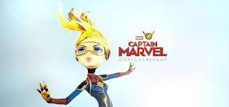doll figurine repaint captain marvel