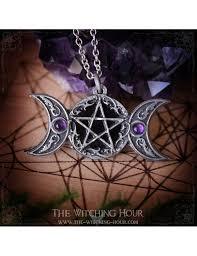 pentagram and triple moon pendant freya