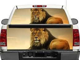 Product Lion On Sunset 2 Rear Window Or Tailgate Decal Sticker Pick Up Truck Suv Car