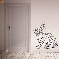 Aya Diy Wall Stickers Wall Decals Geometric Rabbit Wall Sticker Type P Ellaseal
