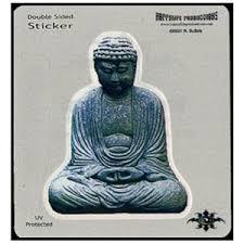 Stone Buddha Art Decal Window Sticker