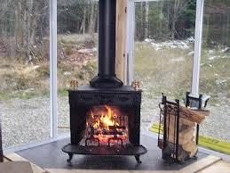 3 season room with wood burning stove