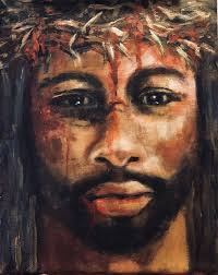 Inspired to paint a Black Jesus. I tried to convey His emotion ...