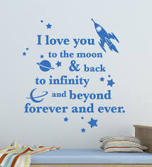 I Love You To The Moon Quote Wall Decals The Decal Guru