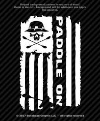 Kayak Paddle On Distressed Flag Vinyl Decal Canoe Oars Grunge Window Sticker Ebay