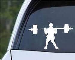 Weightlifting Man D Die Cut Vinyl Decal Sticker Decals City