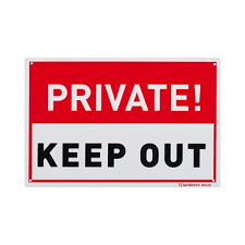 Sandleford 300 X 200mm Plastic Private Keep Out Sign Bunnings Warehouse