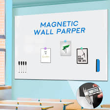 Self Adhesive Magnetic Dry Erase Whiteboard Wall Stickers 36x24 Inches Officetopify