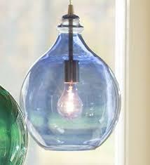 blue glass teardrop pendant light plow
