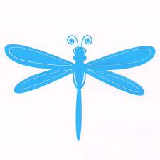 Dragonfly Car Decal Sky Blue Girly Decoration