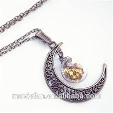 glass bottle pendant moon necklace moon