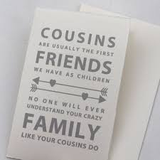 cousin card cousins are usually the first friends we have as