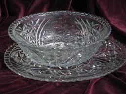 big salad bowl and cake plate