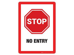Stop No Entry Wall Graphics Gopher Sport