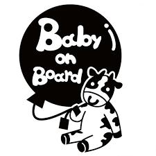 12x17cm Baby On Board Cow Ox Cute Animal Sticker Car Decal Waterproof Sticker Art Bumper Car Window Decor Pattern New Ta051 Car Stickers Aliexpress