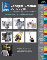 sherwin williams concrete catalog 2017