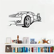 Amazon Com Naituxq Vinyl Wall Decal Wall Stickers Art Decor Peel And Stick Mural Removable Decals Sport Car Race Speed Nursery Decor Children Kids Children Boy Bedroom Home Kitchen