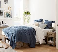 brooklyn storage platform bed pottery