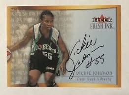 Vickie Johnson 2000 Fleer Fresh Ink Auto Autograph WNBA New York ...