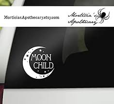 Amazon Com Celycasy Moon Child Decal Crescent Moon Sticker Boho Decal Hippie Car Decal Pagan Laptop Decal Moon Car And Window Sticker Baby