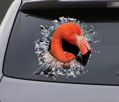 Sticker Flamingo Window Sticker Car Sticker Flamingo Car Etsy