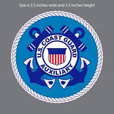 Coast Guard Auxiliary Portal Crest Bumper Sticker Vinyl Window Decal