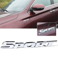 1x Sports Emblem Badge Chrome Metal Car Sticker Logo 3d Decal Decor Word Letter