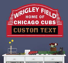 Personalized Wrigley Field Decal Chicago Cubs Custom Decal Free Shipping For Sale Online