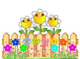 Fence Flower Flower Picture Frames Cartoon Flowers Clip Art