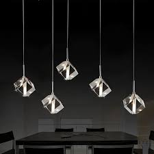 crystal cube pendant lamp macer home