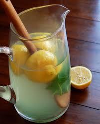 lemon ginger and basil iced tea for