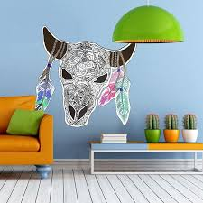 Shop Bull Mandala Full Color Wall Decal Sticker K 390 Frst Size 22 X27 Overstock 20903875