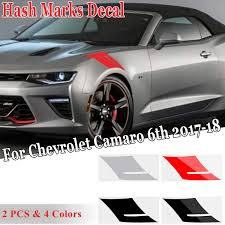 2pcs Set Hashmarks Vinyl Decal Strip Stickers For Chevrolet For Camaro 6th Gen 2017 2018 Car Stickers Car Stickers Aliexpress