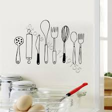 Wall Decals Retro Utensils Design Mural Kitchen Vinyl Wall Stickers Culinary Essential Kitchen Decor Home Decor Diy Quote Stickers For Walls Quote Wall Decals From Onlinegame 11 85 Dhgate Com