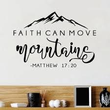 Faith Can Move Mountains Bible Verse Vinyl Wall Sticker Christian Wall Decor For Home Car Laptop Art Decals Bedroom Wall Decal Buy At The Price Of 1 83 In Aliexpress Com Imall Com