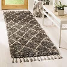 mfg241a grey and cream runner rug