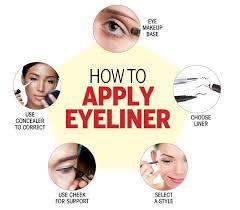 how to apply eyeliner simple ways