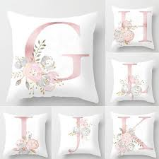 45x45cm Kids Room Decoration Letter Pillow English Alphabet Polyester Cushion Cover For Sofa Home Decoration Flower Pillowcase Outdoor Chair Replacement Cushions Replacement Outdoor Sofa Cushions From Yueji 23 44 Dhgate Com