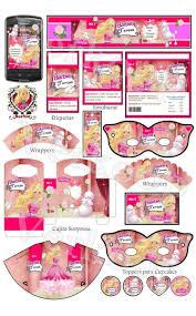 Kit Imprimible Barbie Invitaciones Tarjetas Cajas 290 00 En