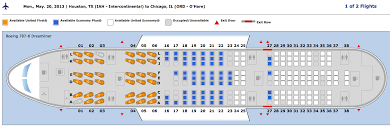 united airlines dreamliner seating