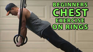 chest workout on gymnastics rings
