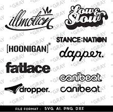 Car Decals Ill Motion Fat Lcae Dapper Canibeat Dxf Svg Etsy