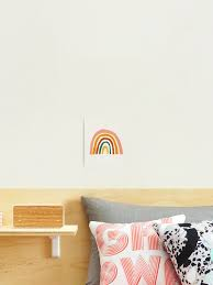 Rainbow Abstract Mid Century Modern Kids Wall Art Nursery Room Photographic Print By Juliaemelian Redbubble