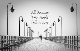 All Because Two People Fell In Love Wall Decals Words For The Wall