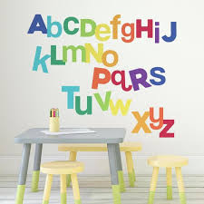 Roommates 5 In X 19 In Multicolored Alphabet 27 Piece Peel And Stick Wall Decals Rmk3643gm The Home Depot