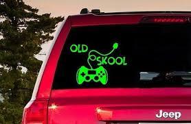 Old Skool Gamer Sticker Old Skool Gamer Decal Old Skool Gamer Etsy In 2020 Window Stickers Old Skool Gamer Gifts