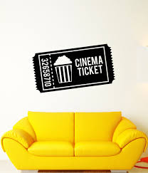 Vinyl Wall Decal Cinema Ticket Popcorn Movie House Stickers 3432ig Wallstickers4you
